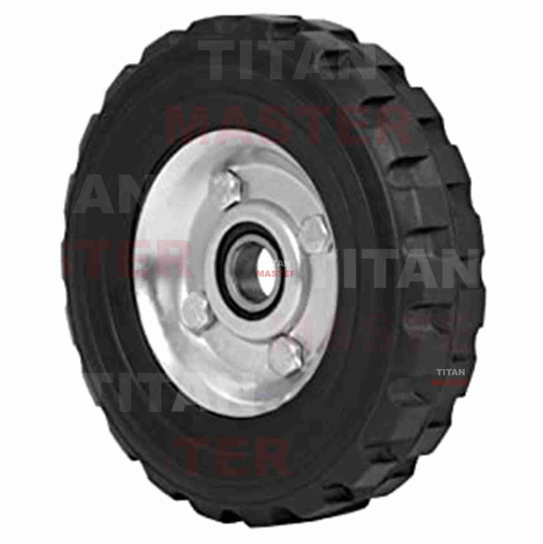 rueda de 7 pulgadas hule solido un balero
