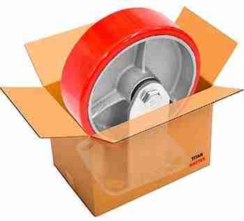 rodaja de poliuretano con hierro caja