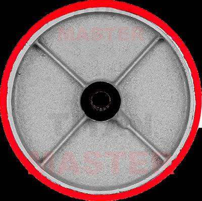 rueda de poliuretano con fierro