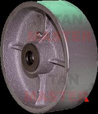 rueda industrial de fierro vaciado
