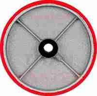 rueda recubierta de poliuretano con fierro vaciado